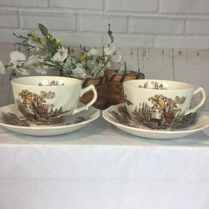 Johnson Bros Old Mill Teacup Set of 2 Country Home